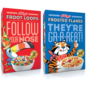 KELLOGGS LIMITED EDITION CEREAL PACKAGING